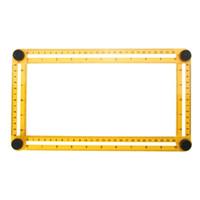 herramienta de manitas al por mayor-Herramienta de medición del ángulo-izer Plantilla Herramienta Regla de cuatro lados Mecanismo Toboganes para constructores Manitas Ingenieros artesanos
