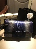 Wholesale Beautiful Leather Handbags - 2017 AW style women python skin size 30cm luxury shoulder bags, women leather party super beautiful original package handbags women bags