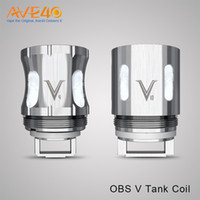 Wholesale Top Ecig Batteries - OBS V Tank Coil V4 v8 v10 v12 fit Use for OBS V Tank Max Support 260w PD270 BOX MOD Max 234w Dual 20700 Battery or 18650 Cell ecig mods top