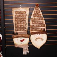ingrosso regalo natalizio-Nuovo calendario natalizio dell'Avvento 87Cm Decorazioni natalizie artificiali per la casa Personalizza il calendario dei regali di Natale Natal