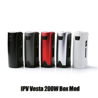 Wholesale Metal Box Power - Authentic Pioneer4You IPV Vesta Box Mod VW TC 200W Dual 18650 Battery Mods Powered By YiHi SX410 Chip