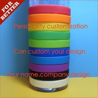 Wholesale Custom Made Band - custom-made Screen Printing colorful silicone wrist band bracelet advertising promotional gifts custom company design anniversary gift