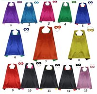 Wholesale Branded Poncho Capes Cloaks - Cape Mask Sets Kids Christmas Halloween Cloak Masquerade Cosplay Prop Costumes Birthday Party Gifts Cartoon Poncho Double Side 70*70CM