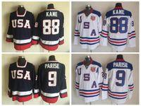 d13db2f8 Cheap 2010 Olympic Team USA Hockey Jerseys 88 Patrick Kane 9 Zach Parise  White Navy Blue USA Stitched Ice Hockey Jersey Free Shipping ...