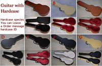 Wholesale Electric Lp Guitar - Multi Black Brown White Leather   Yellow Nylon LP 7V TELE ST MUSIC MAN Electric Guitar Hardcase Hard Shell Case Alternative Multi Inner