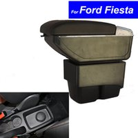 Wholesale Center Console Box - Leather Car Center Console Armrests Storage Box for Ford Fiesta 2003 ~ 2010 2011 2012 2013 2014 Auto Parts Free Shipping