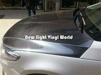 Wholesale Carbon Fibre Wrap Car - Premium Super Shiny Black Gloss 5D Carbon Fibre Vinyl Car Wrap Film Air Free Bubble Car Styling