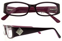 sparkle rims - Plank Women s Full Rim Optical Frames Eyeglass with Curved Rectangular Design And Stylish Look Square Sparkling Decoration On Arms B04191