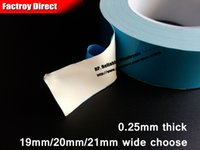 Wholesale Wholesale Thermal Tape - Wholesale- 2016 19mm 20mm 21mm wide choose, * 20M Thermal Conductive Tape, Double Sided Adhesive Tape for LED Panel, Chip,Light Strip, Hea