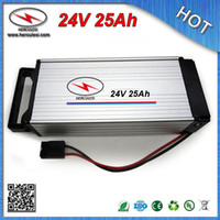 Wholesale Moto Battery Charger - Big Capacity 24V 25Ah E-Bike Battery fit for 200W-750W Moto 18650 Cell 7S 30A BMS aluminum case + CC CV 2A Charger FREE SHIPPING