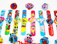 Wholesale Bracelet Kids Boys - 12PCS Assorted Cartoon Slap Bracelets Kids Event Party Favors Supplies Boy Girl Birthday Party Toys Treat Bag Reward Goodie