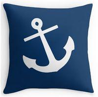 Wholesale Bedding Set Vintage - Wholesale- Pillow Case Vintage Navy Blue Anchor Home Cover Throw Case 16x16 18x18 20x20 24x24 inch Two Size Pillowcase Bedding Set Cover