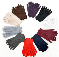 Wholesale Wedding Gloves For Men - Wholesale-New 2017 9 Colors Evening Party Wedding Formal Prom Stretch Satin Gloves for Women