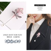 Wholesale Tibet Clothes - New Vintage Men's Handmade Begonia clothing Flower Lapel Pin Boutonniere Corsage for Suit Tie Stick Brooch Pins for gifts