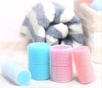Wholesale Pink Sponge Curlers - Sponge Hair Curler Large 6 Fitted Sponge Curlers Lightweight Magic Curls Sponge Foam Cushion Hair Styling Roller Curlers Twist Hairstyle Set