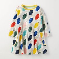 Wholesale Owl Birthday - Girls long sleeve dress 2017 New Cartoon Owl Children Dress Autumn Printed Kids Birthday Dresses Brand Children Clothes C1721