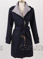 zarif palto avrupa toptan satış-Kadın ilkbahar ve sonbahar dönemi ve han baskı moda Avrupa ve zarif uzun yaka trençkot / S-3XL