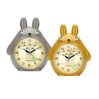 totoro bed al por mayor-Decoración para el hogar TOTORO Reloj de mesa de cuarzo Reloj despertador Alarma despertador Pokemon LED Silencio ligero Silencio