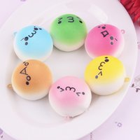 Wholesale keys smile for sale - Group buy 1 sq Creative Squishy Mini Smiling Face Bread Toy Colorful Squishies Kawaii Buns Food Key Bag Cell Phone Straps Charm Toys Slow Rebound CR