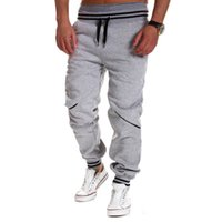 Wholesale Casual Pants Trousers Male - 2017 Brand New Fashion Mens Joggers Pants Elastic Waist Loose Cotton Sweatpants Male Casual Long Trousers Pantalon Homme