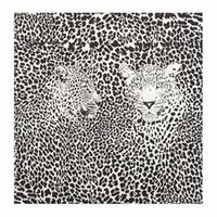 Wholesale Tissue Paper Handkerchief - Vintage napkin tissue black and white flower leopard handkerchief wedding birthday party cocktail dinner serviette decoupage Guardanapos