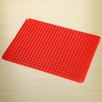 Wholesale New Hot Red Pyramid nonstick skillet Silicone Bakeware Baking Mats Pads Leaf Molds Baking Mat Cooking tools