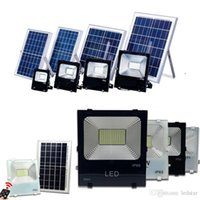 Wholesale High Powered Led Floodlight - High Quality 30W 50W 100W Solar Powered Panel Led Remote control Flood Lights outdoor floodlight Garden outdoor Street light