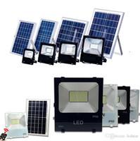 Wholesale floodlight battery online - Outdoor Solar LED Flood Lights W W W W Lamp Waterproof IP67 Lighting Floodlight Rechargable Battery Panel Power