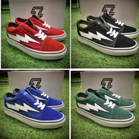 Wholesale REVENGE x STORM size36 Kanye Low Top High Top Adult Women Men s Canvas Shoes Skateboarding Shoes Casual Shoes Sneaker With Box