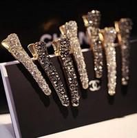 bestellen diamond china großhandel-Heißer Verkauf Damenhaarschmuckkopfschmuckperlendiamanten ducken Mundclipbrautschmucksachemode-Haarkarte FJ178 mischen Auftrag 60 Stücke viel