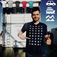 Wholesale Relaxed T Shirt - 100% Cotton T Shirt Fashion ICONSPEAK Traveler Magic T-shirt O-NeckTops Tees Leisure Relax Short Sleeve Shirts TX94-R3