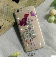 Wholesale Power Paints - For LG Tribute HD X Style LS676 X Power K210 V20 iphone 7 plus ultrathin clear Bling rhinestone diamond color painting soft TPU