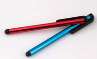 Wholesale 12 plastic - Capacitive Stylus Pen Touch Screen Pen For ipad Phone  iPhone Samsung  Tablet PC DHL Free Shipping