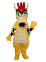 Wholesale Super Mario Costume Make - Super Mario Dragon Mascot Costume Dinosaur Fancy Birthday Party Dress Halloween Carnivals Costumes With High Quality For Adult