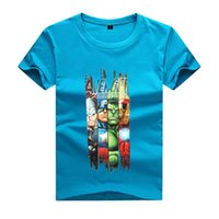 erkekler bahar yaz giysileri toptan satış-2017 YAZ Bahar çocuk giyim BOY t gömlek 3-11 yıl çocuklar için moda t-shirt BOY hulk avengers hulk kısa kollu t-shirt boys