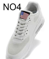 Wholesale Flags Shoes - 2017 new hot Unisex Men Women USA 90 maxies P American FLAG Casual Shoes Independence Day With Aircushion HYPs QS Trainers Zapatos 36-46