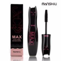 Wholesale Cute Mascara - MANSHILI Cute Max Volume Mascara Long Lasting Thick Mascara Eye Black Eyelash Grower Eyelash Waterproof Fiber Mascara 12pcs