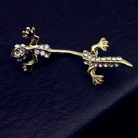 Wholesale Lizard Belly Rings - 2017 New arrival Gecko Lizard gold animal Navel Belly piercings Button Rings Body Jewelry Bijuterias Personality