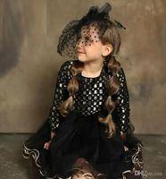 Wholesale Baby Girs - Girls Lace Sequins Dresses Kids Girs Princess tutu Dress Baby Girls Christmas Party Dress 2017 Kids Clothing