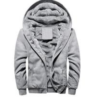 Wholesale Mens Woolen Long Coats - 2017 Men Winter Autumn Blank Pattern European Fashion Bomber Mens Vintage Thick Fleece Jacket Men Winter Jackets Coats