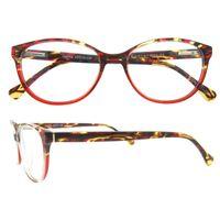 Wholesale Eyeglasses Multicolor - Top Selling Fashion Italy Design Men Women Acetate Colorful Strips Spring Hinge Oval full-rim optical glasses Frames