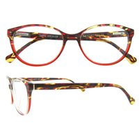 spring hinge eyeglasses - Top Selling Fashion Italy Design Men Women Acetate Colorful Strips Spring Hinge Oval full rim optical glasses Frames