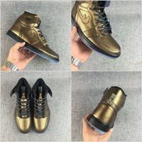 Wholesale Canvas Shoes Wings - 2017 Air Retro 1 High OG Wings Bronze men Basketball Shoes Retros 1s AA2887-035 Trainer Sports Sneakers US7-12