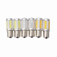 Voiture conduit P21w s25 ba15s 1156 1157 bay15d p21 / 5w 33smd clignotant ampoule Car Lamp Frein Tail Parking Light rouge blanc 12v voiture styling