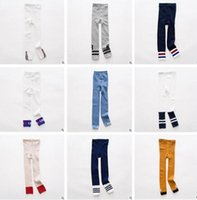 Wholesale Wholesale Toddler Knit Leggings - Baby Girl Leggings Tights Korea Girls FALL Winter Cotton Knitted Infant Toddler Baby Kids Leggings Girls Boys Letter Striped Legging