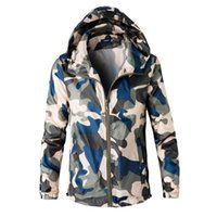 Wholesale Jaquetas Top - Wholesale- Plus size men camouflage jackets 2016 new summer tops clothing mens jacket and coats windbreaker jaquetas masculina m-xxxxl