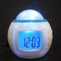 Wholesale Natural Light Calendar - Fashion LED Projection Alarm Clock star light alarm clock colorful creative alarm clock natural sound factory direct wholesale
