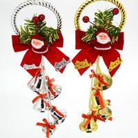 Wholesale Tree Bell Ornaments - Christmas tree creative bell pendant 2017 new plastic plating Christmas ornaments party supplies wholesale free shipping