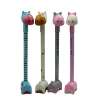 Wholesale Giraffe Pens Wholesale - Wholesale-4x Kawaii Giraffe Design Black Gel Ink Rollerball Pen School Children Students Office Home Writing Accessory Store Stationery
