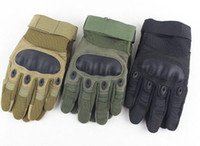 Wholesale Shell Carbon - US Army Tactical Gloves Outdoor Sports Full finger Combat Gloves Motocycle Racing Slip-resistant Carbon Fiber Tortoise Shell